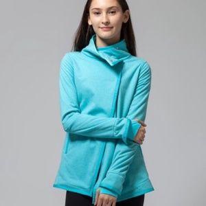 Ivivva Girl's Big Business Blue Wrap Jacket Sz 12